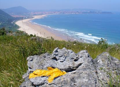 Camino del Norte flèche jaune
